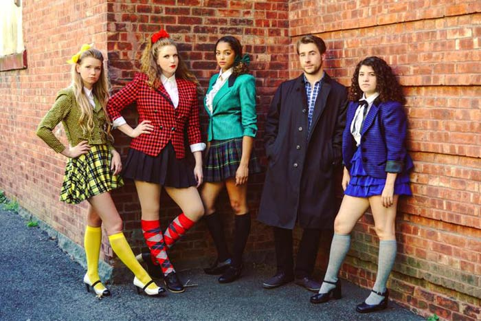 Heathers: The Musical opens September 9 at the Center for Performing Arts at Rhinebeck. The cast features Rachel MKay, Kerry Gibbons, Caira Asante, Wendell Scherer and Olivia Rose.